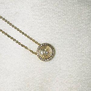 Michael Kors brilliance crystal pendant necklace
